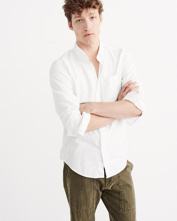 ANF Classic Fit Oxford Shirt