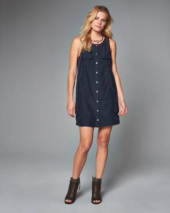 ANF Button Utility Shift Dress