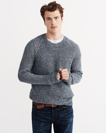 ANF Ribbed Knit Crew Sweater