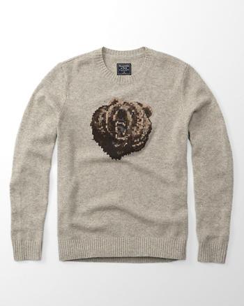 ANF Intarsia Crew Sweater
