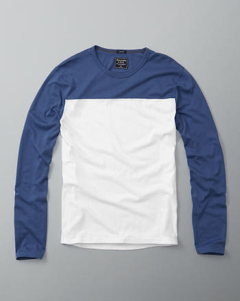 ANF Color Block Long-Sleeve Tee