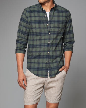 ANF Plaid Madras Shirt
