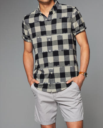 ANF Ikat Short-Sleeve Shirt
