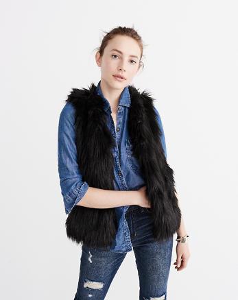 ANF Faux Fur Vest