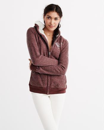 ANF Sherpa Lined Full-Zip Hoodie