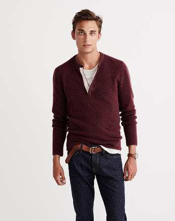 ANF Wool-Blend Henley Sweater