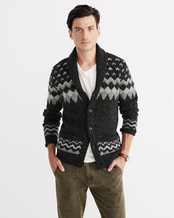ANF Fairisle Shawl Cardigan