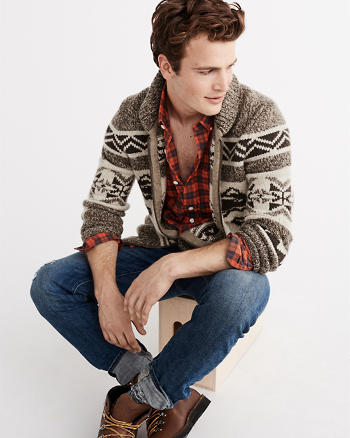 ANF Trout Knit Cardigan