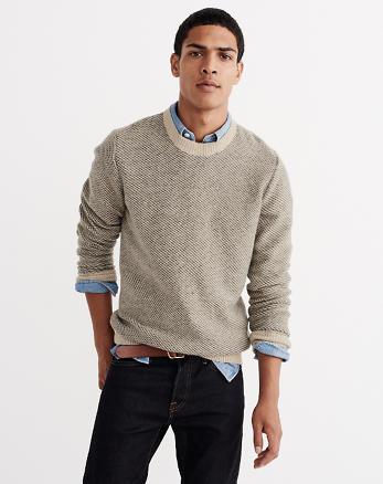 ANF Wool-Blend Birdseye Knit Sweater