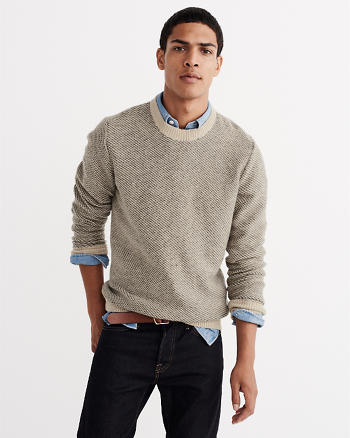 ANF Wool-Blend Birdseye Knit Sweater