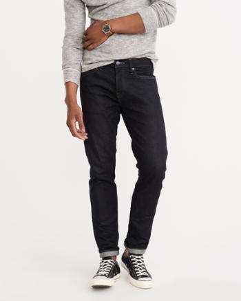Mens Selvedge Straight Iconic Jeans