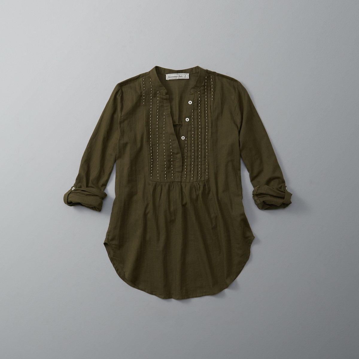 Embellished Bib Peasant Top