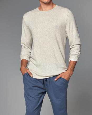 Mens Crew Long-Sleeve Tee