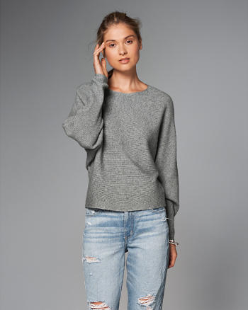 ANF Ribbed Dolman Sweater