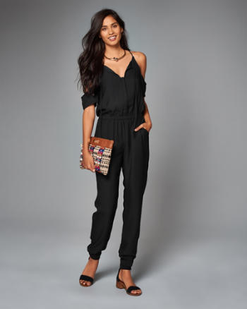 Womens Cold Shoulder Jumpsuit