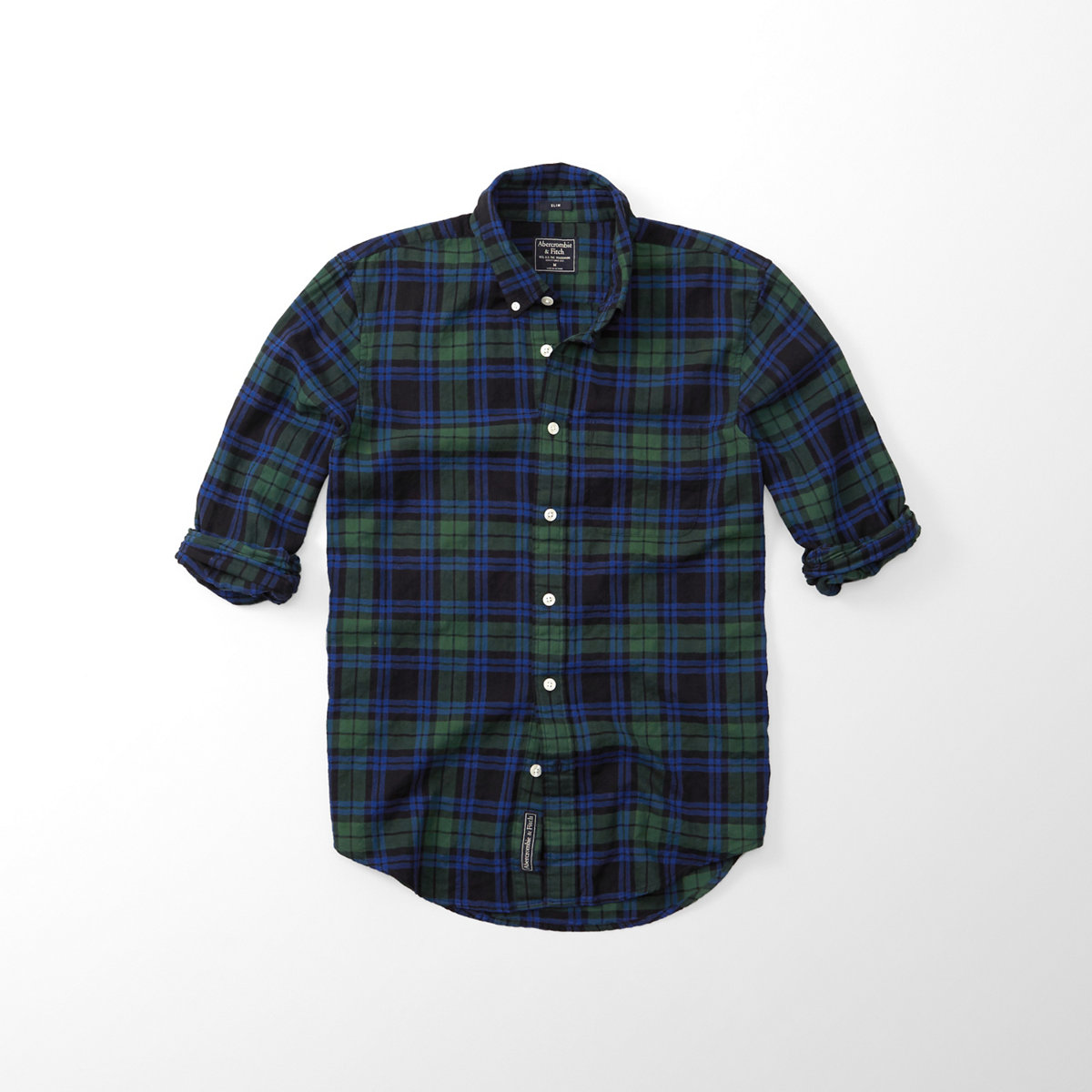 Herringbone Rumple Plaid Shirt