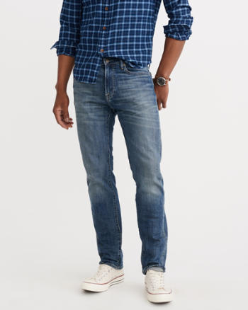 Mens Slim Straight Everyday Jeans