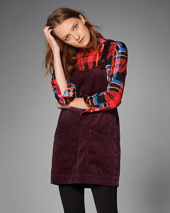 ANF Corduroy Pinafore Dress