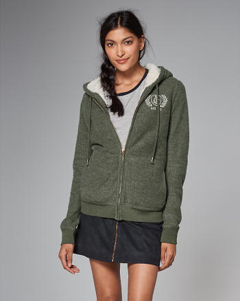 ANF Sherpa A-Lined Full-Zip Hoodie