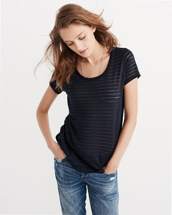 ANF Burnout Striped Tee