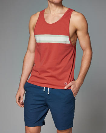 Mens Chest Stripe Tank