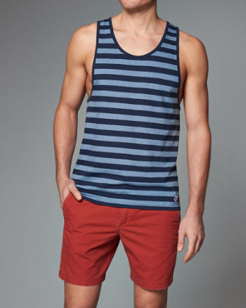 Mens Yarn Dyed Stripe Tank