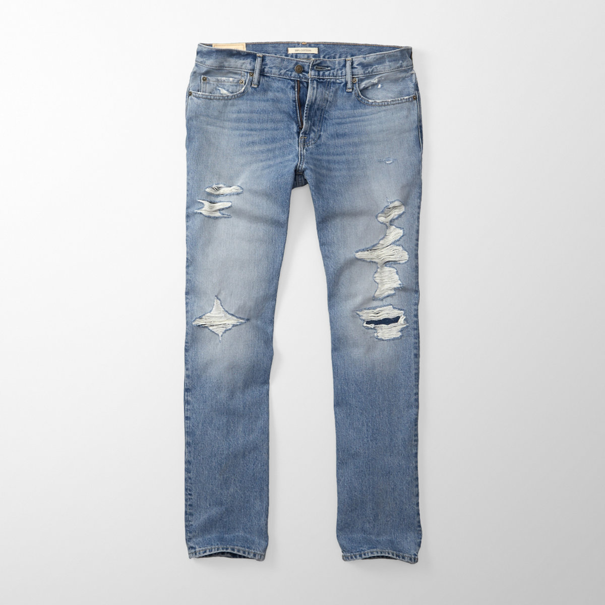 Ripped Classic Straight Jeans
