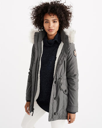 ANF Sherpa-Lined Military Parka