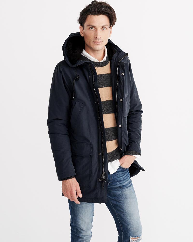Sherpa Cotton Parka Jacket | Abercrombie.com