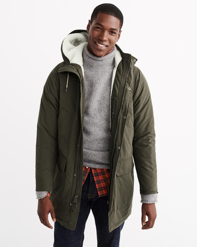Mens Sherpa Cotton Parka Jacket | Mens Clearance | Abercrombie.com