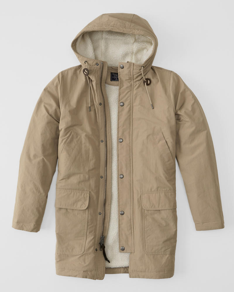 Mens Sherpa Cotton Parka Jacket | Mens Clearance | Abercrombie.ca