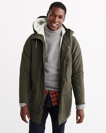 ANF Sherpa Cotton Parka Jacket