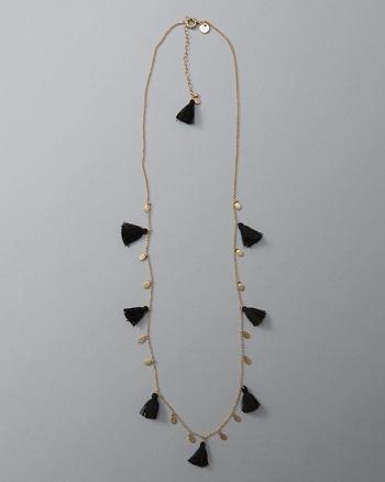 ANF Fringe Tassel Station Necklace
