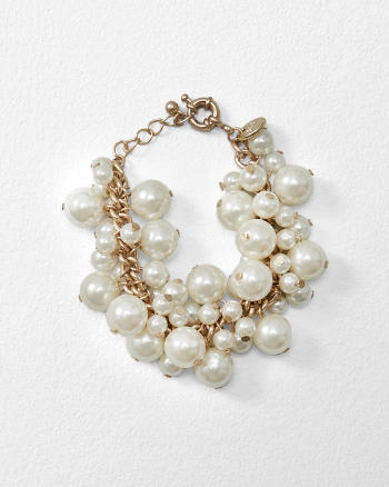 ANF Faux Pearl Cluster Bracelet