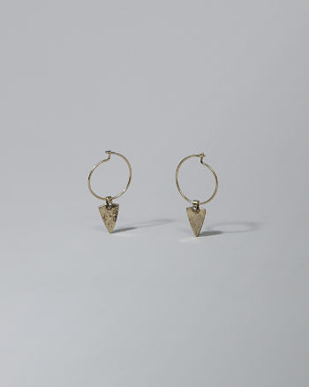 Womens Triangle Drop Earrings