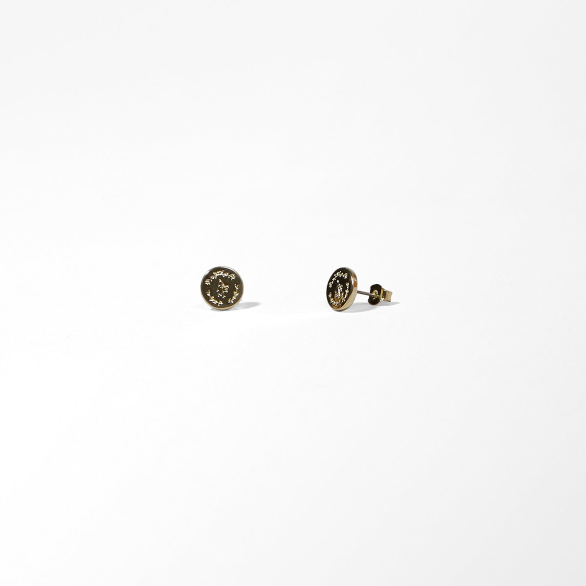 Logo Monogrammed Stud Earrings