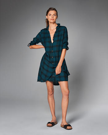 ANF Wrap Front Shirt Dress