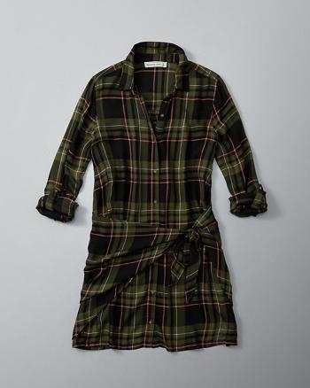 ANF Wrap Front Shirt Dress
