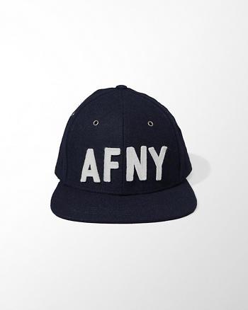ANF Wool-Blend Flat Brim Cap