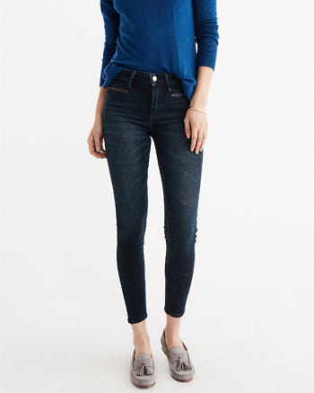 ANF Zip Ankle Jeans
