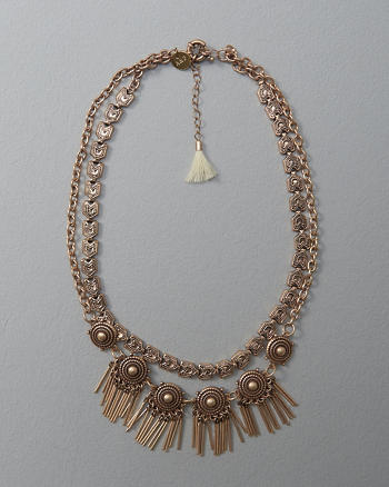 ANF Medallion Statement Necklace