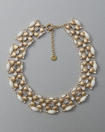 ANF Bead & Rhinestone Statement Necklace