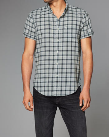 Mens Poplin Short-Sleeve Shirt