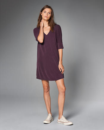 ANF V-Neck T-Shirt Dress