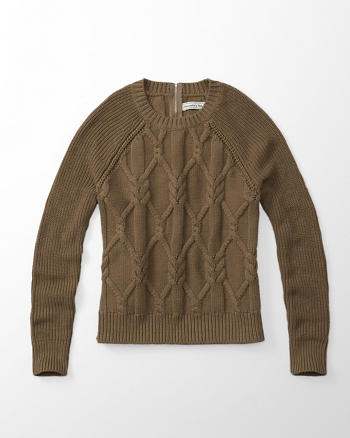ANF Zip Cable Knit Sweater
