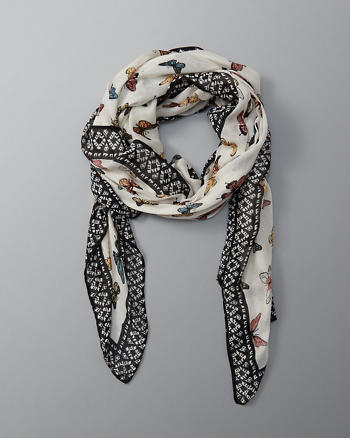 ANF Butterfly Square Scarf