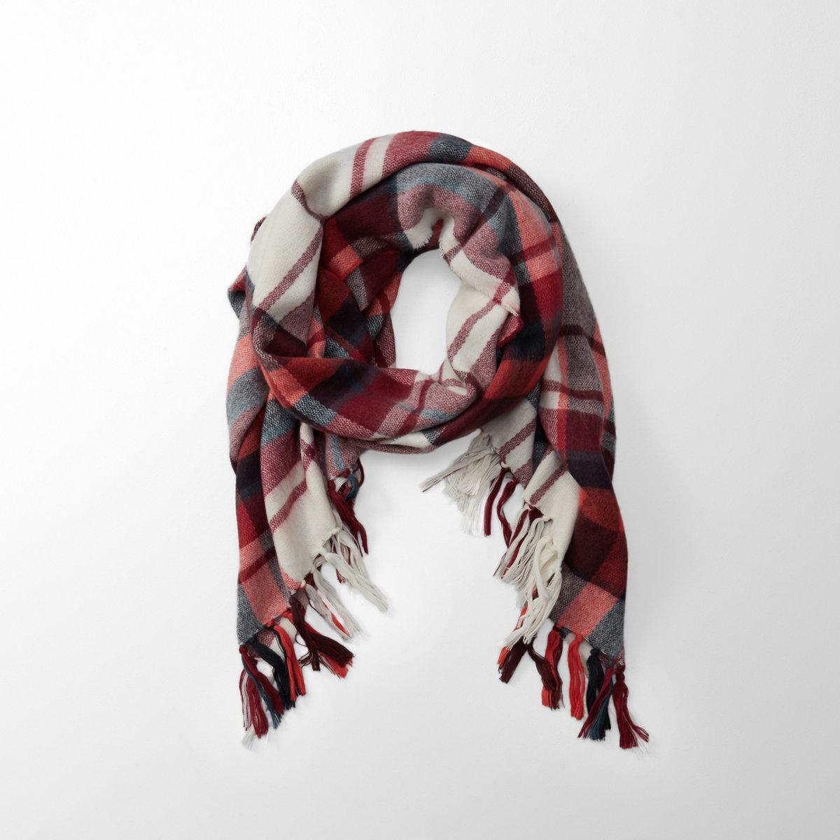 Fringe-Trim Blanket Scarf