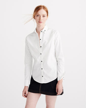 ANF Embroidered Preppy Shirt