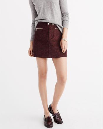 ANF Zipper A-Line Corduroy Skirt