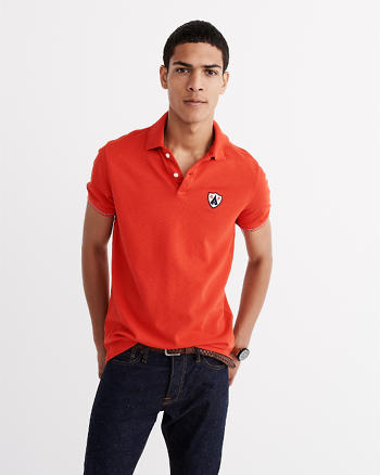 ANF Striped Cuff Polo